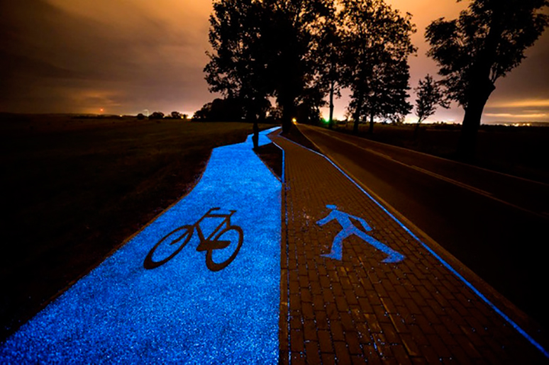 Carril bici de nit